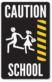 Warning school sign Stock Photography
