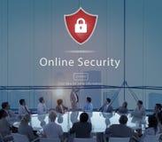 Warning Security Alert Warning Secured Website Concept Royalty Free Stock Images