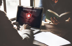 Warning Security Alert Warning Secured Website Concept Royalty Free Stock Photos