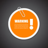 Warning security notice sticker Stock Image