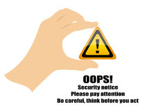 Warning security sign Royalty Free Stock Photo