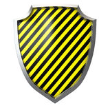 Warning shield Stock Photography