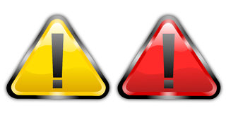 Warning sign. Illustration of shiny warning sign vector illustration
