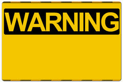 Warning sign. Isolated on white background Stock Photo