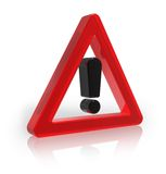 Warning sign Stock Photography