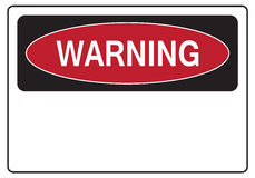 Warning sign. A blank standard warning sign Stock Images