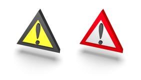 Warning sign. Illustration of 3d warning sign Royalty Free Stock Image