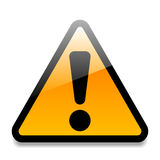 Warning sign stock illustration
