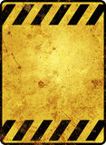 Rusty warning sign template Royalty Free Stock Photography