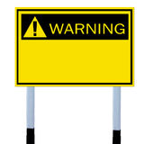 Warning sign. Yellow warning sign,Isolated Stock Photos