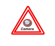 Warning Sign. Double Warning Sign Against Criminal Acts Stock Illustration