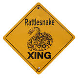 Warning Sign. Rattlesnake Xing sign isolated on white background Royalty Free Stock Photos