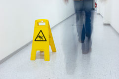 Warning sign. For slippery floor Royalty Free Stock Image
