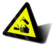 Warning sign acid Stock Image