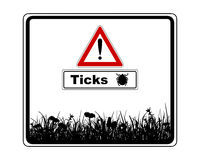 Warning sign with added information ticks Royalty Free Stock Photos