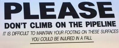 A warning sign in alaska Royalty Free Stock Photo
