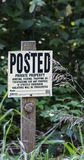 Posted Private Property Sign. Warning sign that the area is private property and no trespassers will be tolerated Stock Images