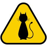 Warning sign attention animal Stock Photo