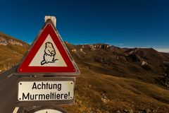 Grossglockner High Alpine Road, Hohe Tauern National Park, Salzb stock image