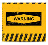 Warning sign banner Stock Photos