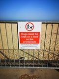 Warning Sign Gorleston Beach royalty free stock photos