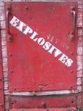 Warning sign Bisbee Arizona. This is a warning sign photo taken at a mine cart in Bisbee Arizona stock photos