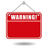 Warning sign board Royalty Free Stock Photo
