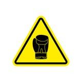 Warning sign boxung. Symbol Hazard attention of dangerous boxer. Royalty Free Stock Photo