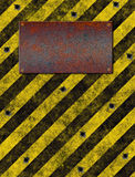 warning Sign bulletholes Royalty Free Stock Photo