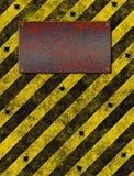 Warning Sign bulletholes Royalty Free Stock Photo