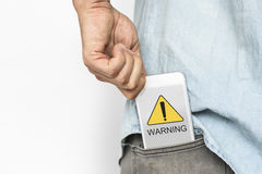 Warning Sign Caution Icon Word Royalty Free Stock Photo
