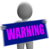 Warning Sign Character Displays Danger And Hazard Stock Photos