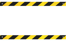 Warning sign with copy space Royalty Free Stock Images