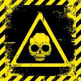 Warning sign of danger Stock Images