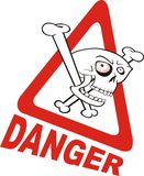 Warning sign - danger Stock Images