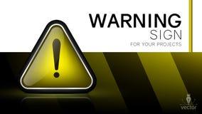 Warning sign. Danger, caution, attention royalty free illustration