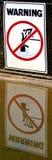 Warning sign - danger crocodiles, no swimming Royalty Free Stock Image