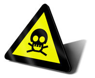 Warning sign danger death. Illustration Royalty Free Stock Photo