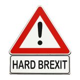 Hard Brexit danger sign isolated over white Royalty Free Stock Image