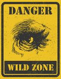Warning sign. danger signal with gorilla. eps 8 Stock Photos