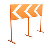 Warning sign dangerous turn on a white background. 3d rendering Stock Images