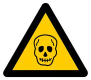 Warning sign death. Its an illustration Royalty Free Stock Images