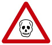 Warning sign death. Its an illustration Stock Photography
