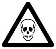 Warning sign death. Its an illustration Royalty Free Stock Image