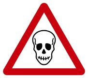 Warning sign death. Its an illustration Royalty Free Stock Photo