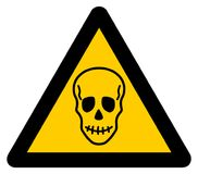 Warning sign death. It`s a illustration Stock Photography