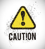 Warning sign design Royalty Free Stock Photography