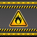 Warning sign design. Warning sign digital design, vector illustration 10 eps graphic Royalty Free Stock Images
