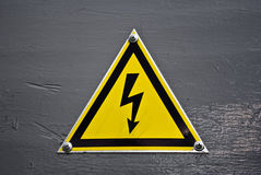 Warning sign - electricity royalty free stock images