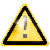 Warning sign Royalty Free Stock Image